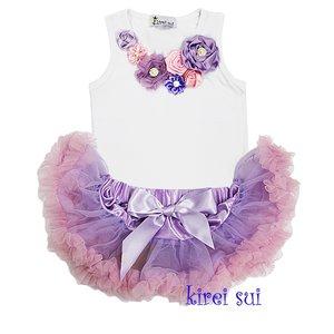 Petticoat Set Baby lavendel Pink + top luxe vintage Rossette