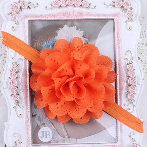 Flower Rossette Haarband Orange