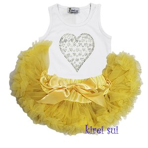 Petticoat Set Baby Primrose + top Sparkle Heart