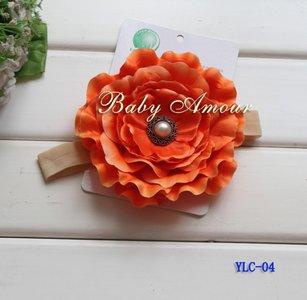 Haarband Big Flower Orange Diamond
