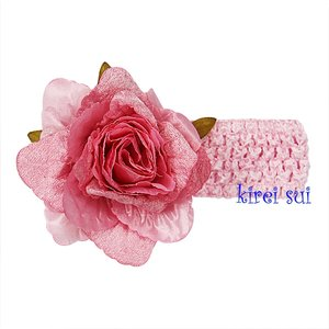'Haarband Gorgeous Roos Crochet Pink