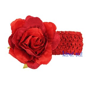 Haarband Gorgeous Roos Crochet Red
