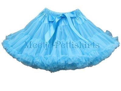 Petticoat Luxe Aqua Blue By Meetje-Pettiskirts Kids & Women