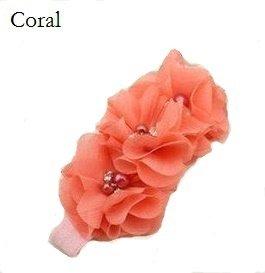 *Haarband Happy Flower Sparkle Koraal