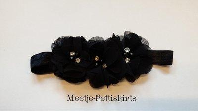 Haarband Happy Flower Sparkle Black