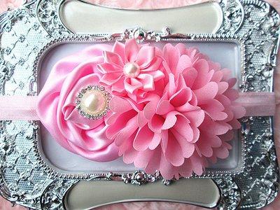 ** Beauty Luxe Beauty haarband Roze Pearl