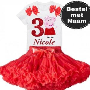 Peppa Pig Petticoat verjaardagset 1 Tm 6 jaar & Naam