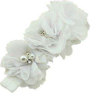 *Haarband Happy Flower Sparkle White