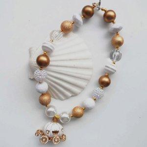 ** Chunky Ketting Pearl Prinses Glitter Koets