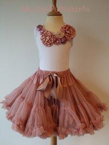 Petticoat Luxe Dusty pink By Meetje-Pettiskirts + Top Vintage Garden
