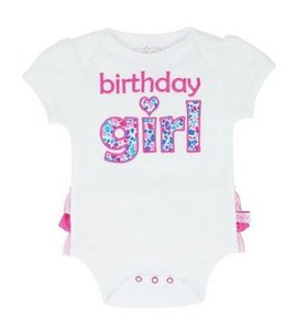 Ruffle Butts verjaardagsromper Birthday Girl Ruffle Butts