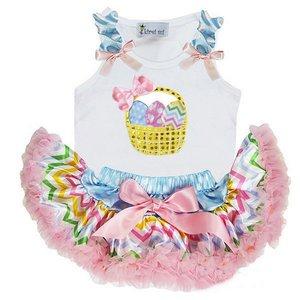 * Petticoat set Pastel Stripe + Top Paasmandje