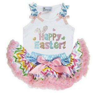 Petticoat set Pastel Stripe + Top Happy Easter
