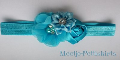 **Haarband Pearl Diamant Frozen Blue