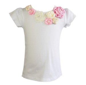 Top Rossette Luxe Vintage Rose Garden Cream Pink 62-164