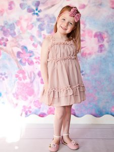 Dusty Pink Chiffon jurk