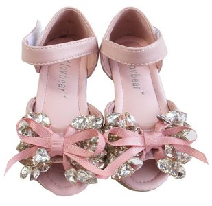 Ballerina Sandaaltjes Chrystal hartjes Pink