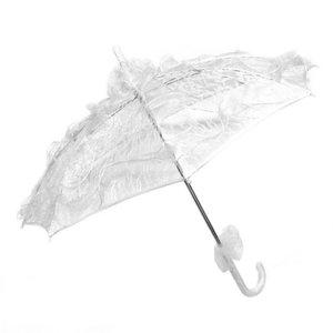 Kanten paraplu off white