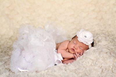**Haarband Camellia Bloem haarband White