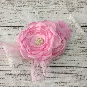 Vintage Inspired Couture Pink Haarband