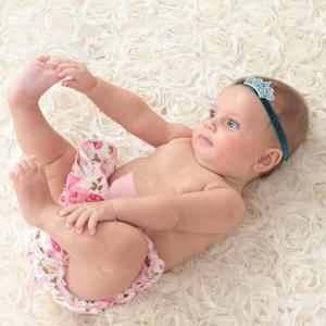 Babykroon Pearl Sparkle haarband wit
