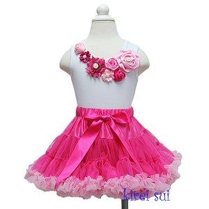 *Petticoat Set Hotpink Lightpink + top Luxe Rossette Pearl