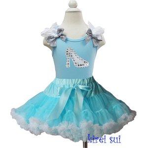 Prinsessenjurk Assepoester met glitter prinsessenschoen