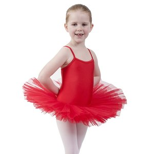 Balletpakje Tutu Rood 3-12 jaar