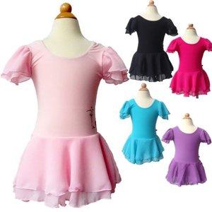Balletpakje Chiffon korte mouw Diverse kleuren 1-12 jaar