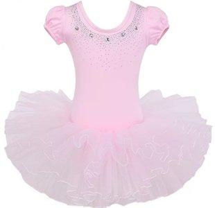 Balletpakje Daisy sparkle pink Tutu maat 98-140