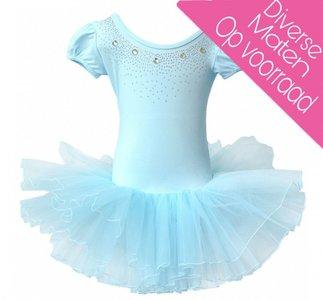 Balletpakje Daisy sparkle blauw Tutu maat 98-140