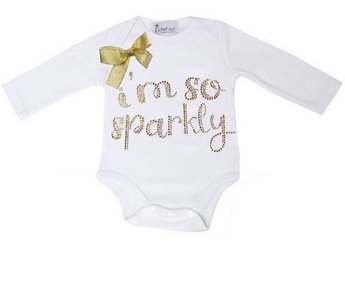 Baby Fashion Romper longsleeve I.m so sparkly