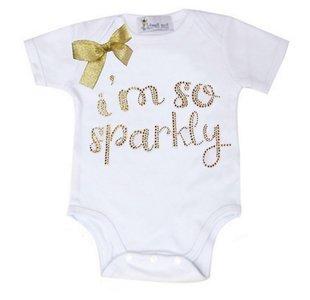 Baby Fashion Romper I.m so sparkly