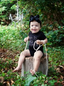 Baby Fashion Romper zwart Born to wear diamonds
