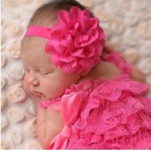 Baby haarbandje bloem Fuchsia