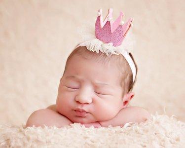 Kroon haarband Roze