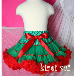 Petticoat groen rood 74-122