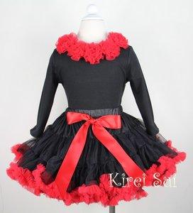 Petticoat zwart rood 74-122