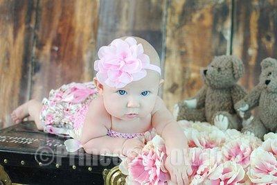 Haarband Chiffon Flower roze
