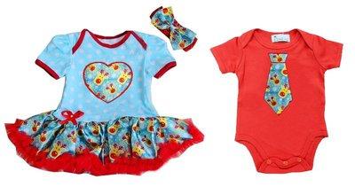 Baby tweeling kerst set baby kleding Rendier Blauw