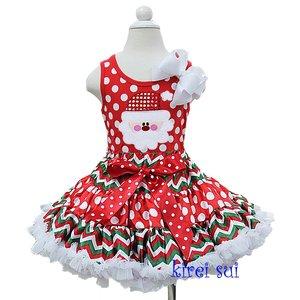 Kerst petticoat rood polkadot top kerstman