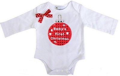 Baby romper mijn 1e kerst glitter kerstbal longsleeve