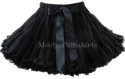 Petticoat Luxe Black By Meetje-Pettiskirts Kids & Women