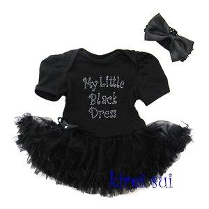 baby jurk zwart glitter My little black dress