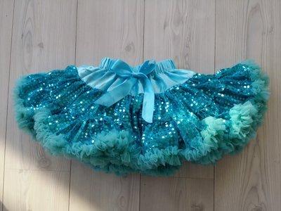 Petticoat luxe glitter Elsa Blue maat 3-6 jaar
