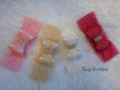 Luxe strik haarband met glitter steen