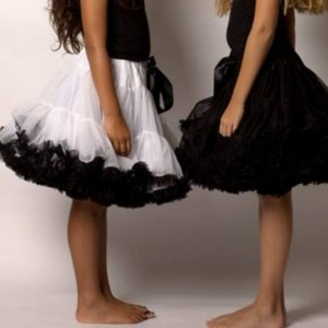 Petticoat Luxe white Black By Meetje-Pettiskirts Big Kids & Women