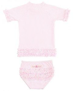 Ruffle Butts Pink Polkadot Bikini 2delig 56-140
