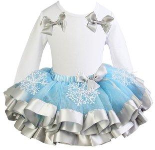 Elsa jurk TUTU Sneeuwflok longsleeve