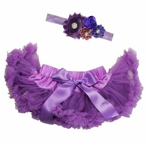 Baby Petticoat paars & haarband